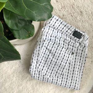 Jordache | Patterned White Pants | Size 10